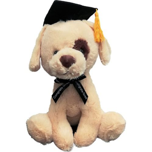 Brown Graduation Dog Plush
