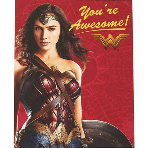 Wonder Woman Valentine Exchange Cards with Favours, 12-pk