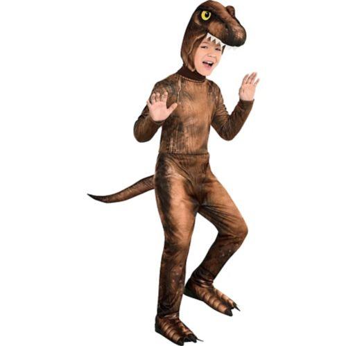Child Jurassic Park T-Rex Jumpsuit Costume, 4-6T