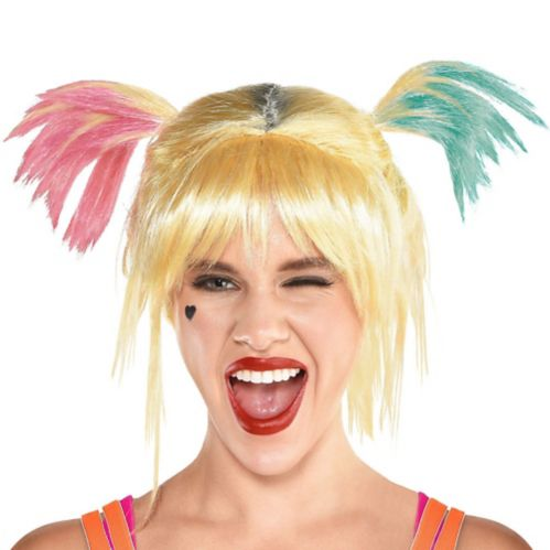 Adult Birds of Prey Harley Quinn Wig