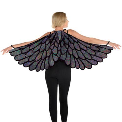 Dark Metallic Fabric Wings