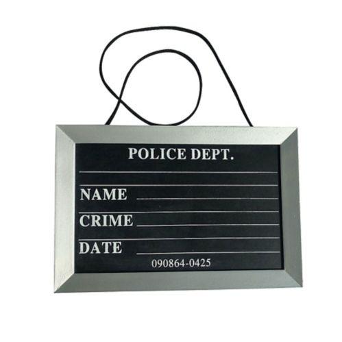 Accessoire de costume du condamné, panneau de photos d'identité judiciaire