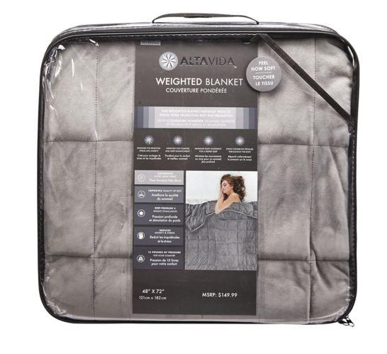 Couverture pondérée, tissu luxueux très doux, 15 lb