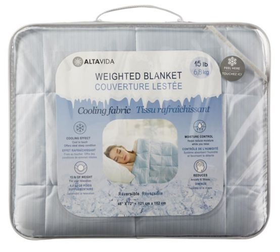 Cooling Weighted Blanket, 15-lb