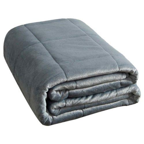 Couverture pondérée lavable à la machine, gris, 12 lb