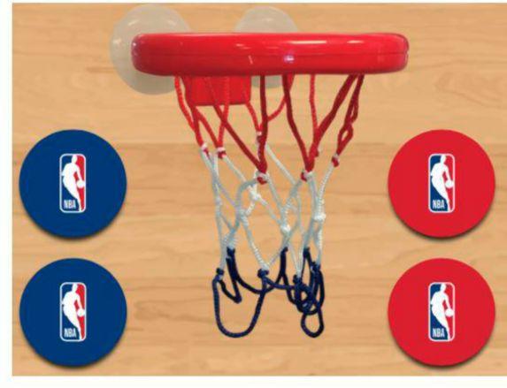 Ensemble de basketball à ventouse de la NBA