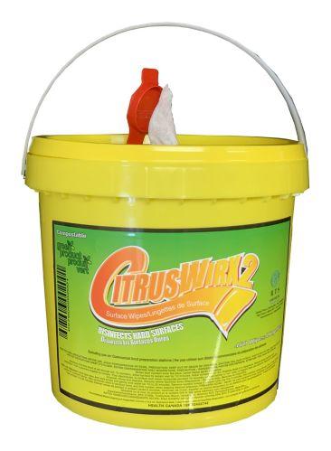 CitrusWirx Disinfectant Wipes & Bucket