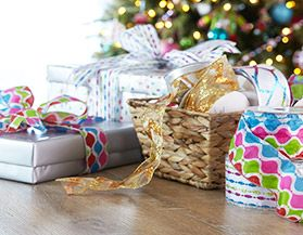 Canvas Christmas Wrapping & Tissue Paper