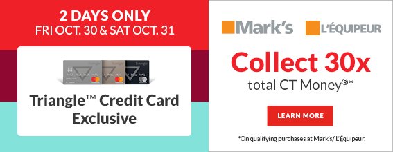 Triangle Credit Card Exclusive – Marks – October 30 and 31