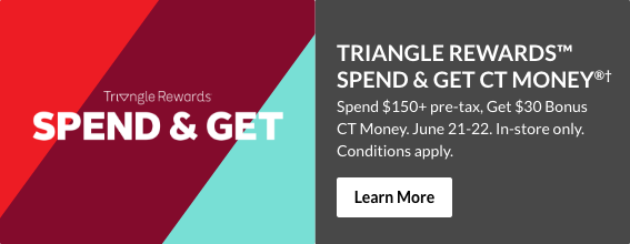 Triangle Rewards Spend and Get – June 21-22