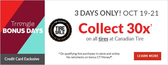 30x triangle bonus day tires