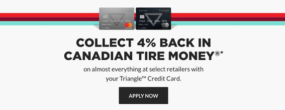 Collect 4 % back in Canadian Tire Money