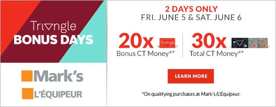 Triangle Bonus Day at Marks – June 5-6