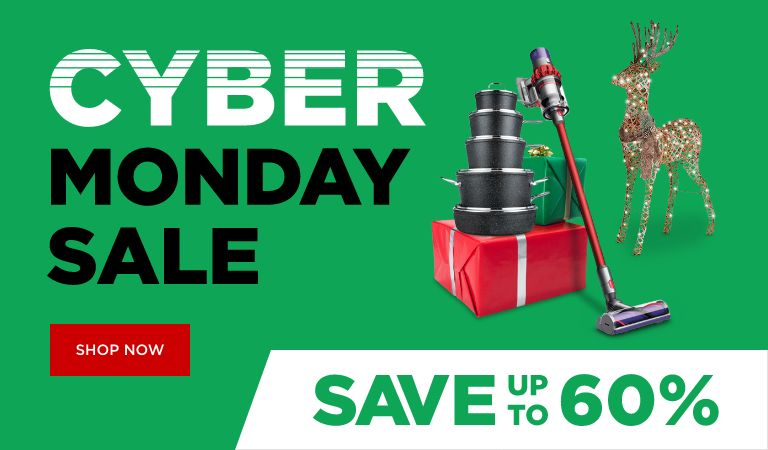 CYBER MONDAY SALE  SAVE UP TO 60%  STARTS TODAY  SHOP NOW