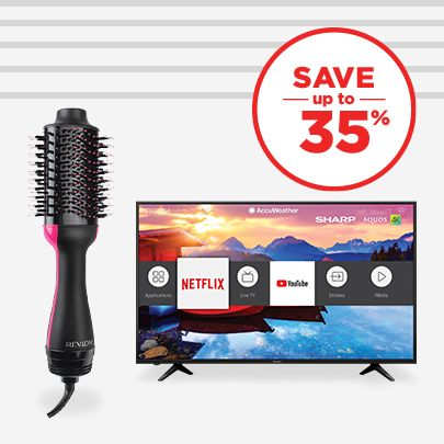 Save up to 35% Electronics & Personal Care