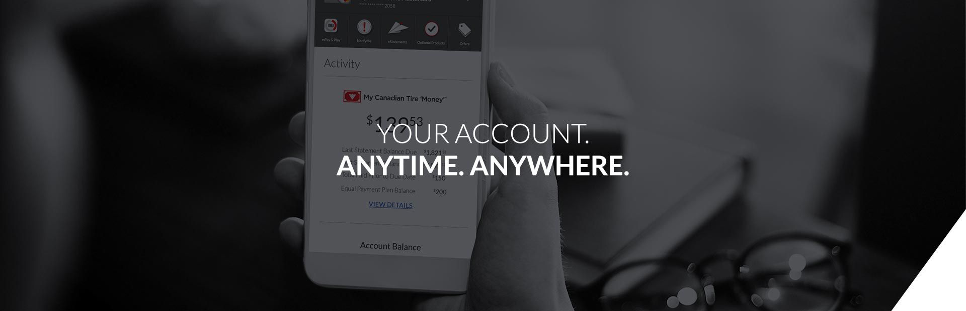 my online account - your account anytime anywhere
