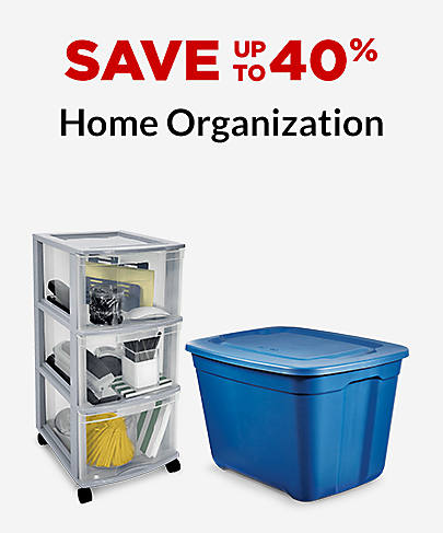 Save up to 40% Home Organization