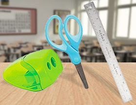 Scissors, Sharpeners & Rulers