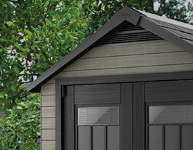 STATIONARY STORAGE SHEDS