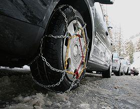 Chaînes pour pneus de voiture