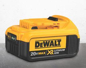 Batteries et chargeurs d'outils à moteur DEWALT