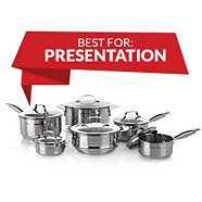 Lagostina Single Ply Hand Hammered Design Cookware Set 12-pc