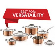 Lagostina Copper Hand Hammered Design Cookware Set 12-pc