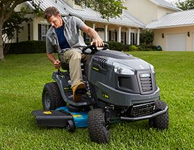View All Lawn Tractors, Riding Mowers & Attachments