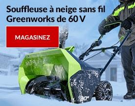 Souffleuse à neige sans fil Greenworks de 60 V
