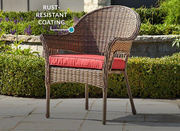 Canvas Canterbury Conversation, Resin Wicker Patio Furniture Canadian Tire