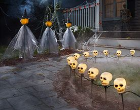 Halloween Lights, Pathway Stakes & Spotlights