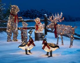Christmas Outdoor Lit Signs & Lanterns