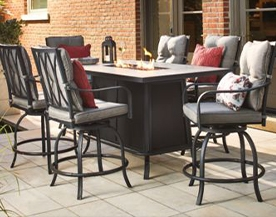 CAMROSE FIRE TABLE DINING SET