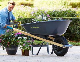 Shop for Yardworks wheelbarrows and carts.