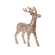 CANVAS Sequin Deer Rose 18-in