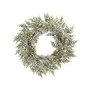 CANVAS Frosted Wreath 24-in