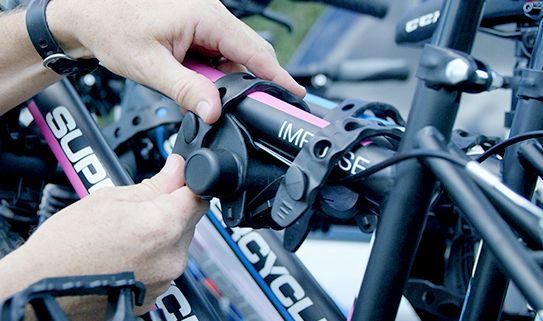 Anti-sway keeps your bike stable during transit.