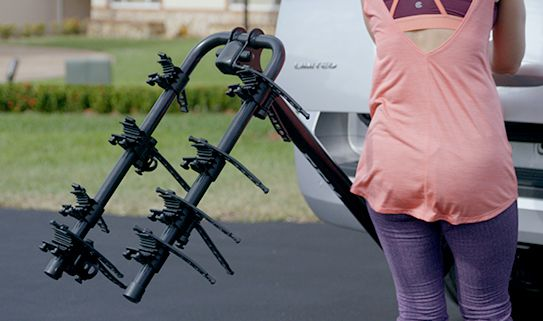 Tilt-away lets you access your trunk with an unloaded bike rack.