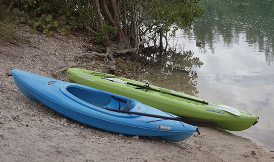 The length of a kayak determines how fast and how easy to carry it is