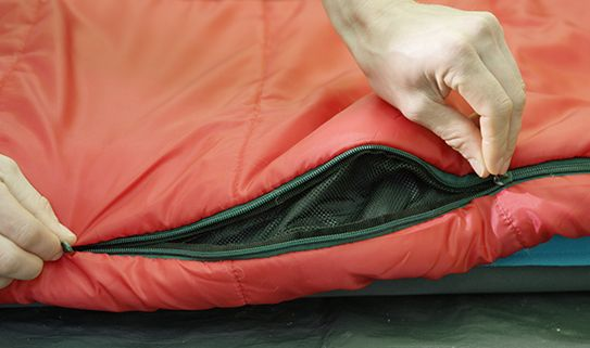 Zippered vents can help regulate temperature in your sleeping bag