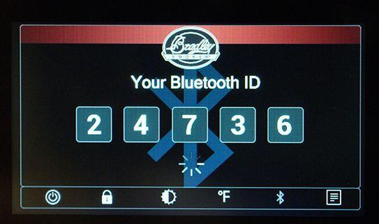 Bluetooth enabled smoker