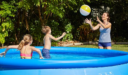 Consider your kids' heights when choosing an above ground pool