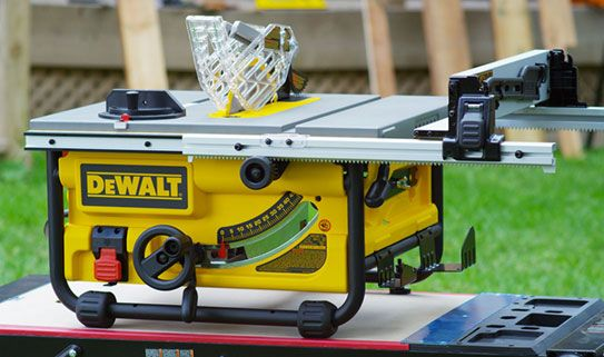Job site table saws are compact and easy to transport.