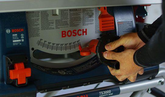 Check the bevel angle range on the saw.