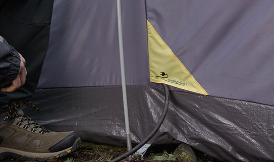 Electrical cord ports allow you to run appliances in your camping tent