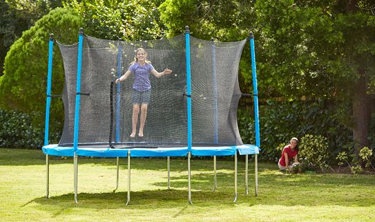 Pick a trampoline with net for extra safety