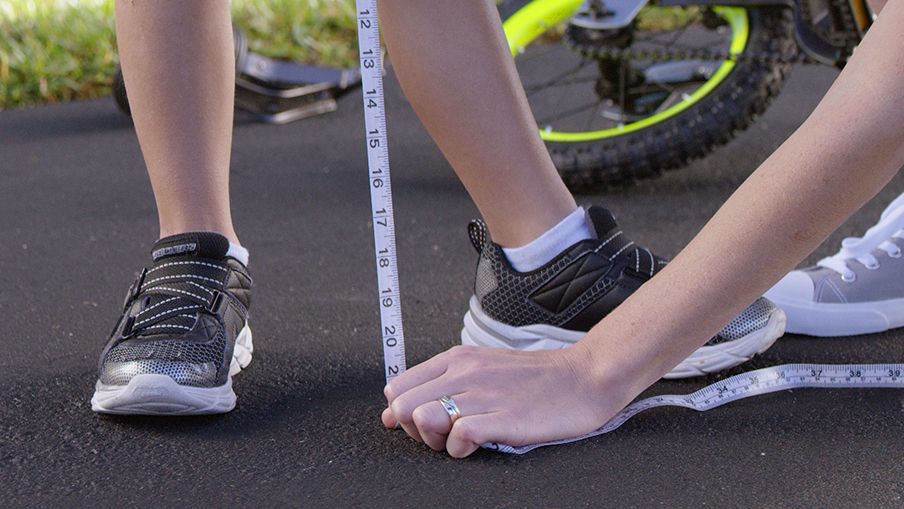 Check out our kid's bike measurement chart online and in-store