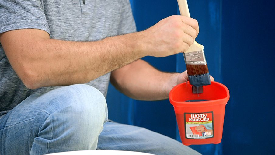 Use a paint container to supply your brush