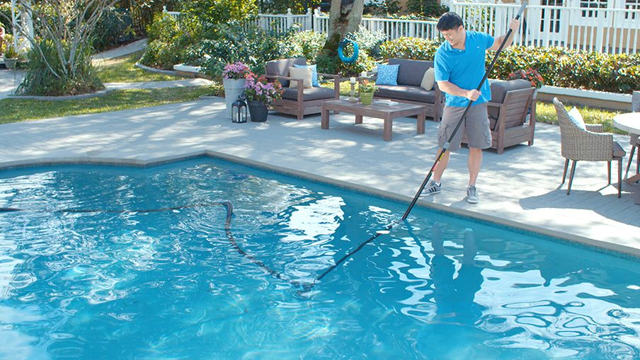 Sure It Covers The Entire Bottom Of Pool If There Are Corners That Can T Be Reached With Vacuum Give Them An Extra Scrub Brush