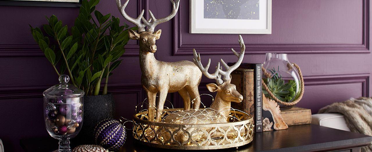 How to make a glittery deer centerpiece